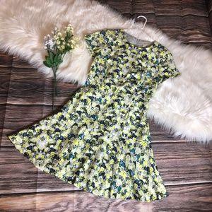 J. Crew Floral Printed Flare Dress